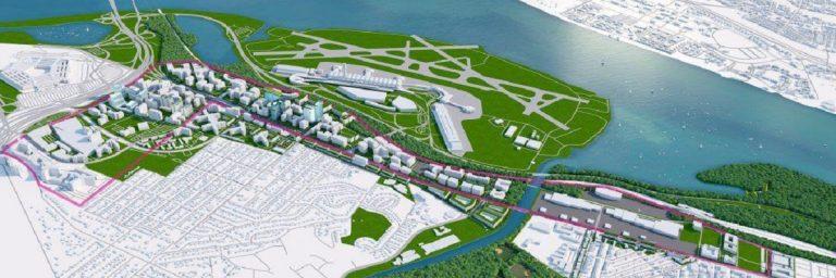 Rendering of National Landing Amazon Campus